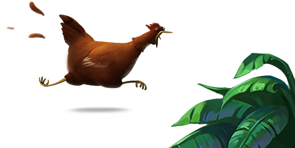 Plinga running chicken
